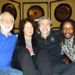 Tony Murdock, Brenda McMorrow, David Hickey and Errol Starr Francis at Spiritual Day Retreat on Nov 20, 2011